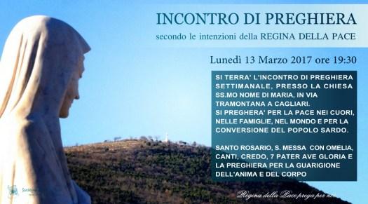 Locandina Incontro di Preghiera Settimanale del 13 Marzo 2017