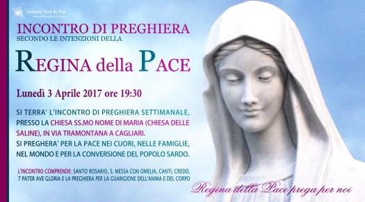 Locandina Incontro di Preghiera Settimanale del 03 Aprile 2017
