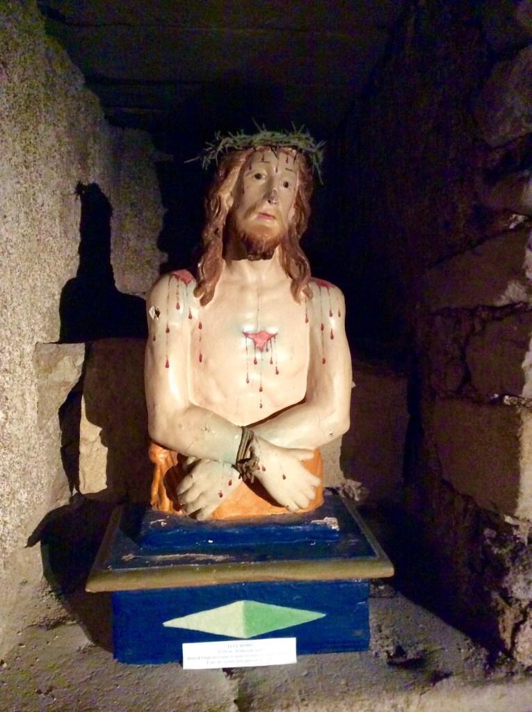 La statua dell'Ecce Homo - cripte di Castelsardo