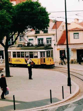 Il tram elettrico, un'icona di Lisbona