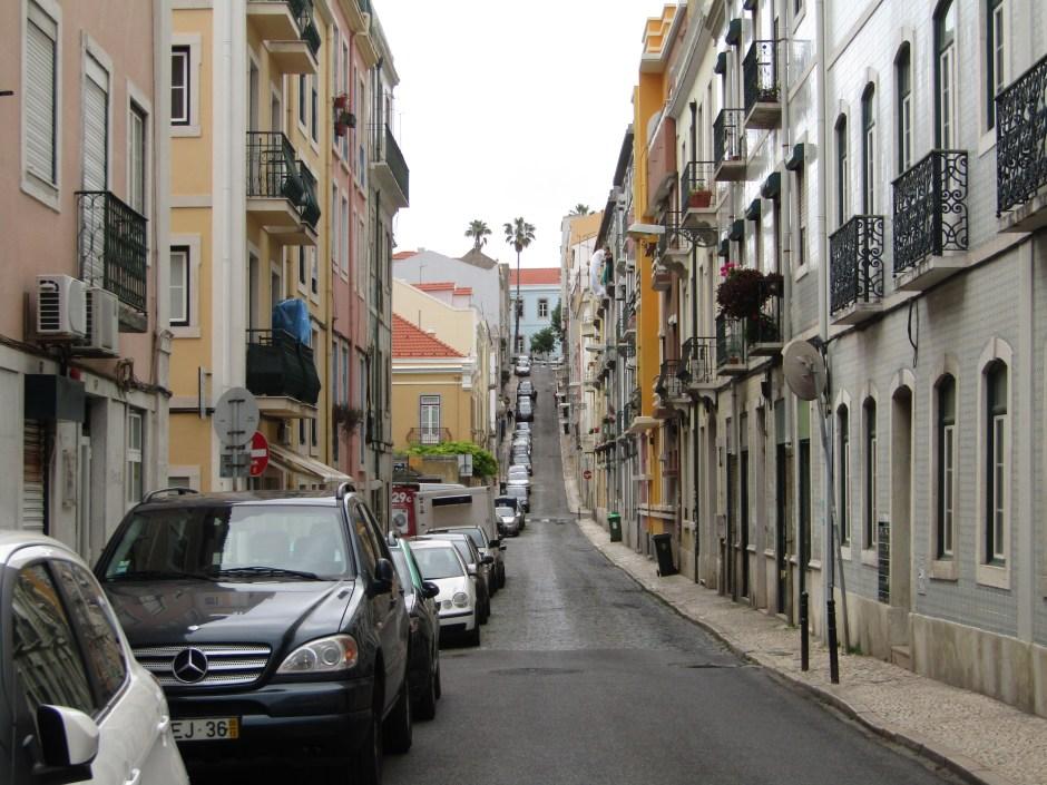 Le strade ripidissime di Lisbona