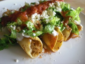 Flautas with Chicken and Ham