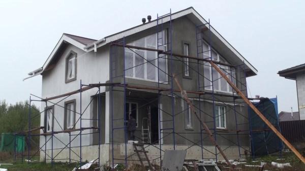 Штукатурка каркасного дома снаружи: Отделка фасада ...