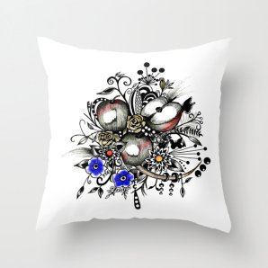 """Throw pillow cover, """"APPLES"""", 16x16,18x18,20x20 inches, apples,home decoration,decorative pillow,indoor decoration,outdoor decoration,fruits"""