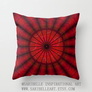 """Throw pillow cover, """"Heart Net"""", 16x16,18x18,20x20 inches, red, home decoration, decorative pillow, indoor decoration, outdoor decoration,"""