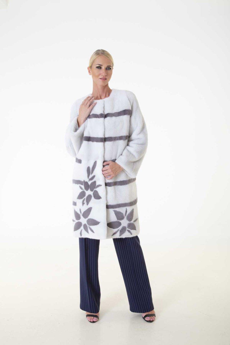 Violet Male Mink Jacket | Пальто из норки фиолетового цвета - Sarigianni Furs