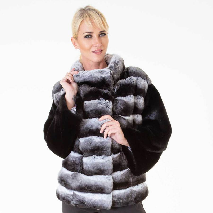 Chinchilla Fur Jacket | Sarigianni Furs