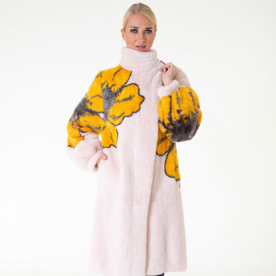 Rosa Scuro Male Mink Coat | Шуба из норки розового цвета - Sarigianni Furs
