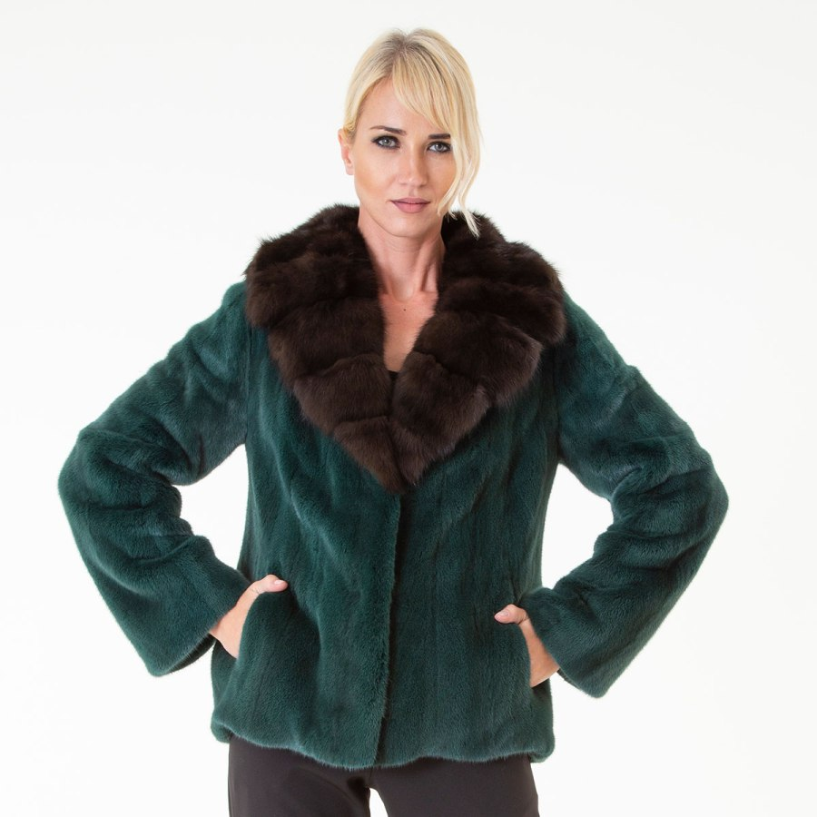 Aurora - Female Mink Farm Jacket | Sarigianni Furs