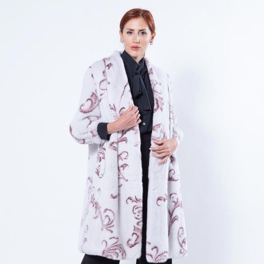 Rosa Mink Jacket | Пальто из меха норки цвета Rosa - Sarigianni Furs