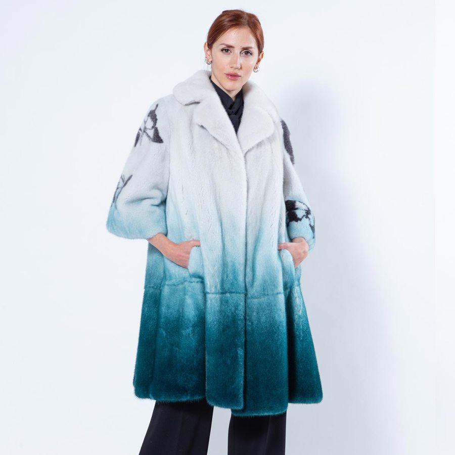 Ottanio Degrade Mink Jacket | Пальто из норки цвета Ottanio с эффектом деграде - Sarigianni Furs