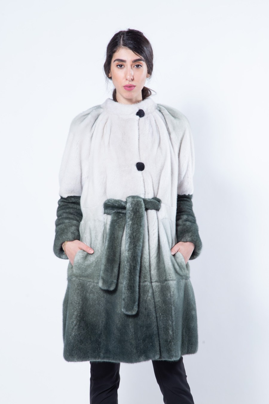 Olive Degrade Mink Jacket | Sarigianni Furs