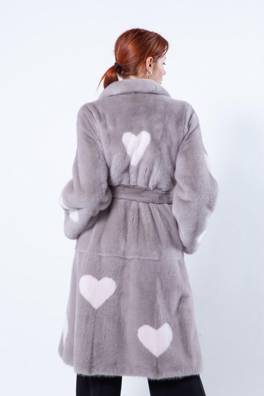 Stucco Mink Coat | Sarigianni Furs