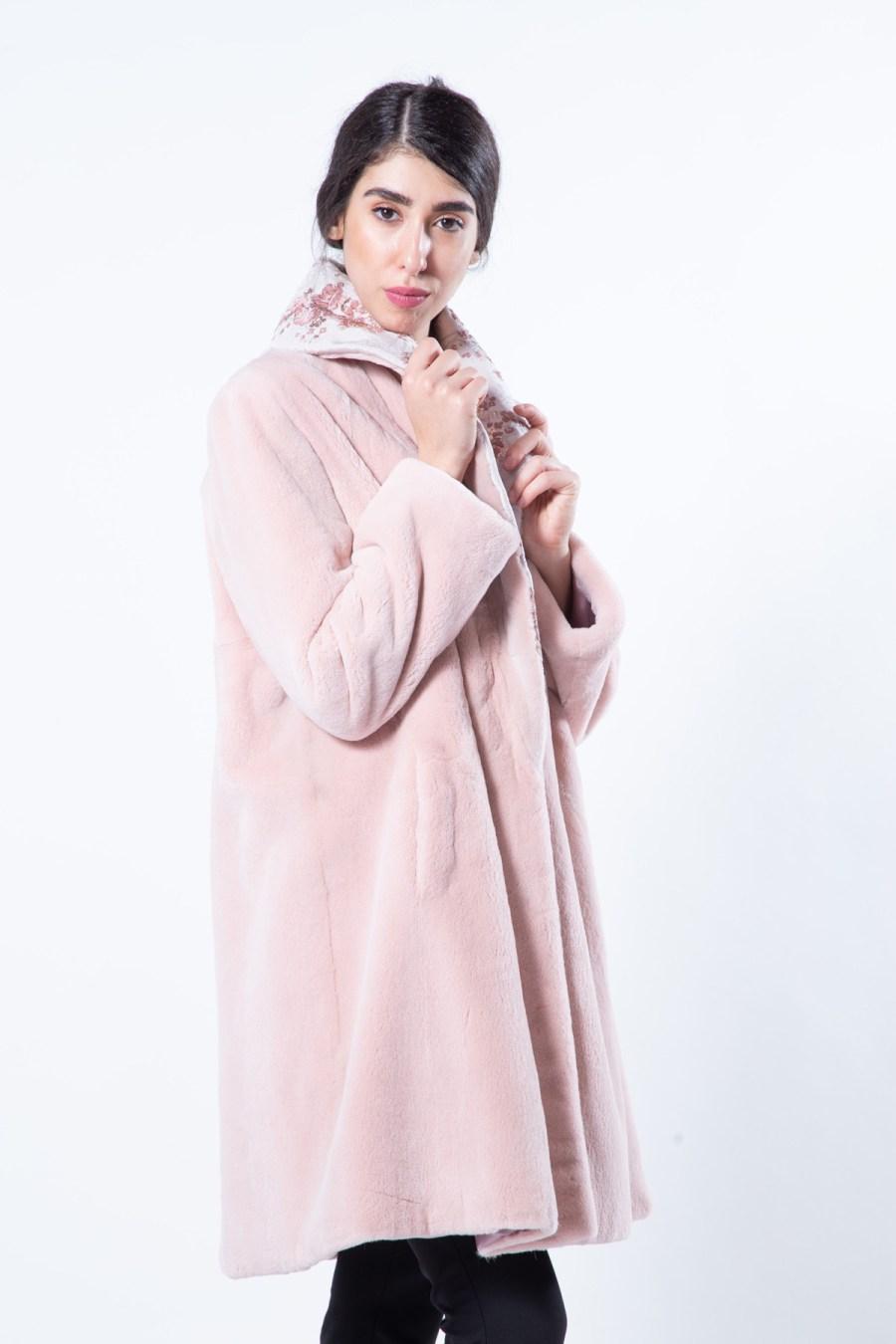 Antique Rose Sheared Mink Jacket | Sarigianni Furs