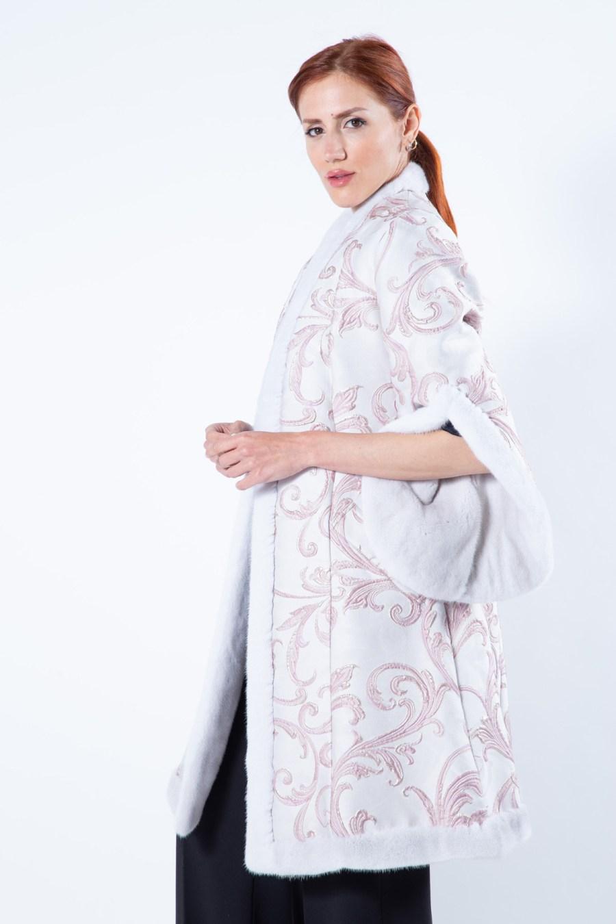 Violet Mink and Fabric Jacket - Sarigianni Furs