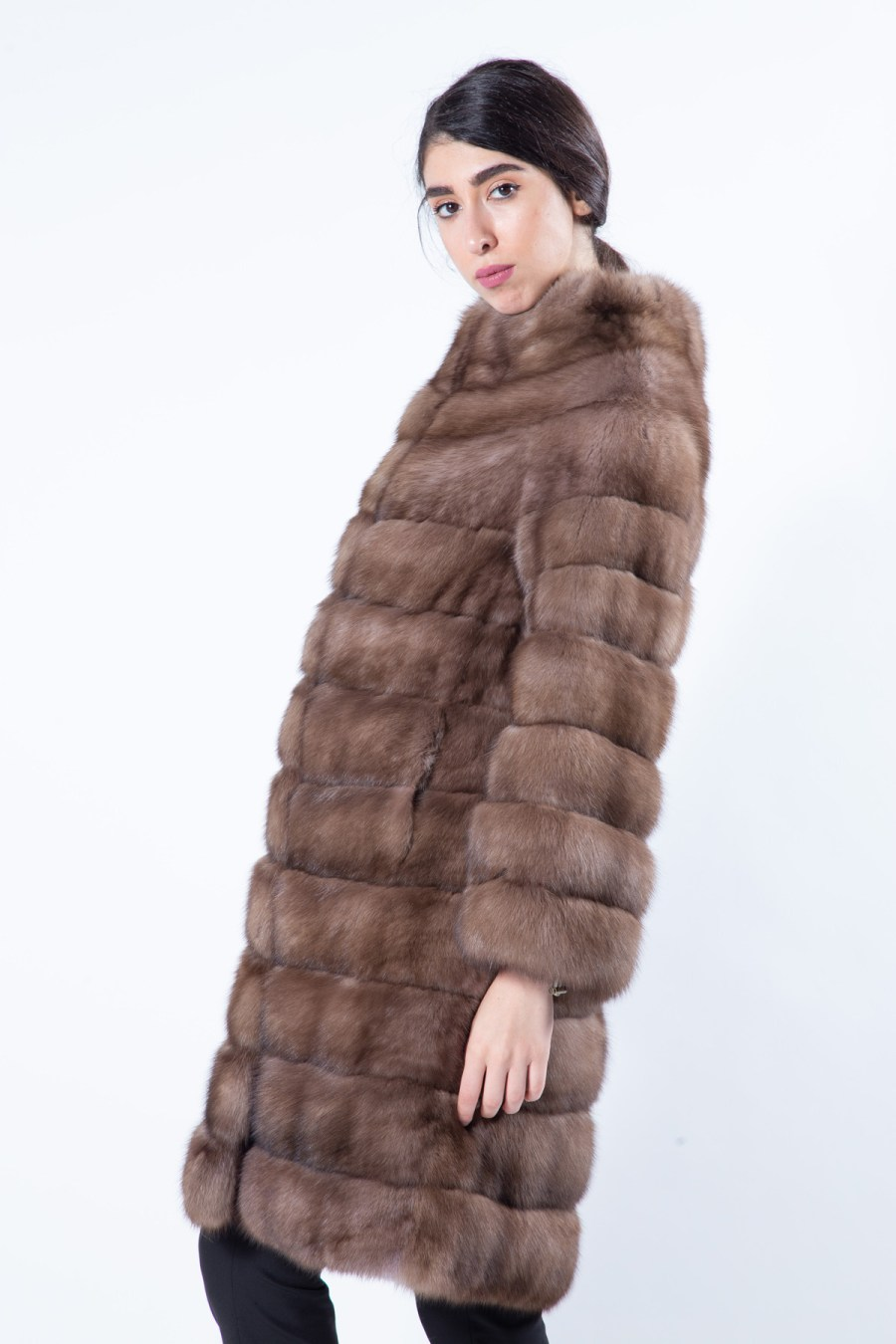 Tortora Sable Fur Coat | Sarigianni Furs