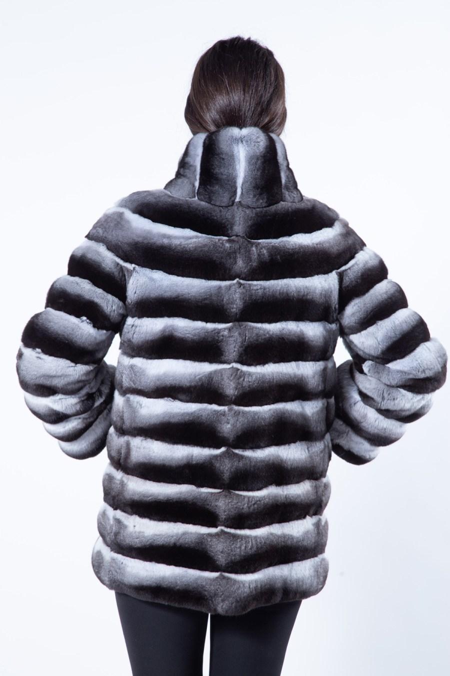 Chinchilla Fur Jacket with normal sleeves   Sarigianni Furs