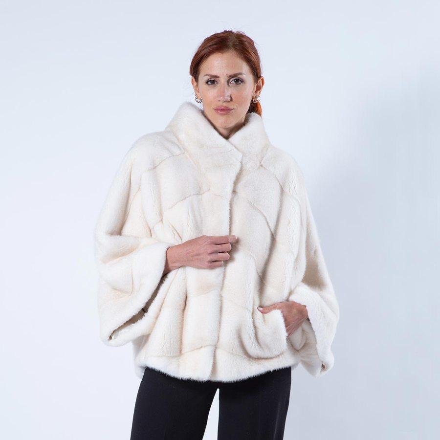 Pearl Mink Fur Cape | Sarigianni Furs