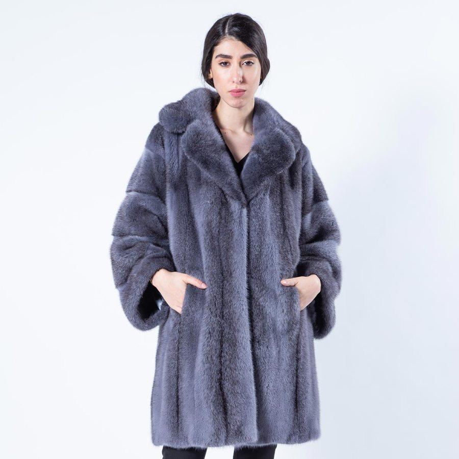 Grey Mink Fur Jacket - Sarigianni Furs