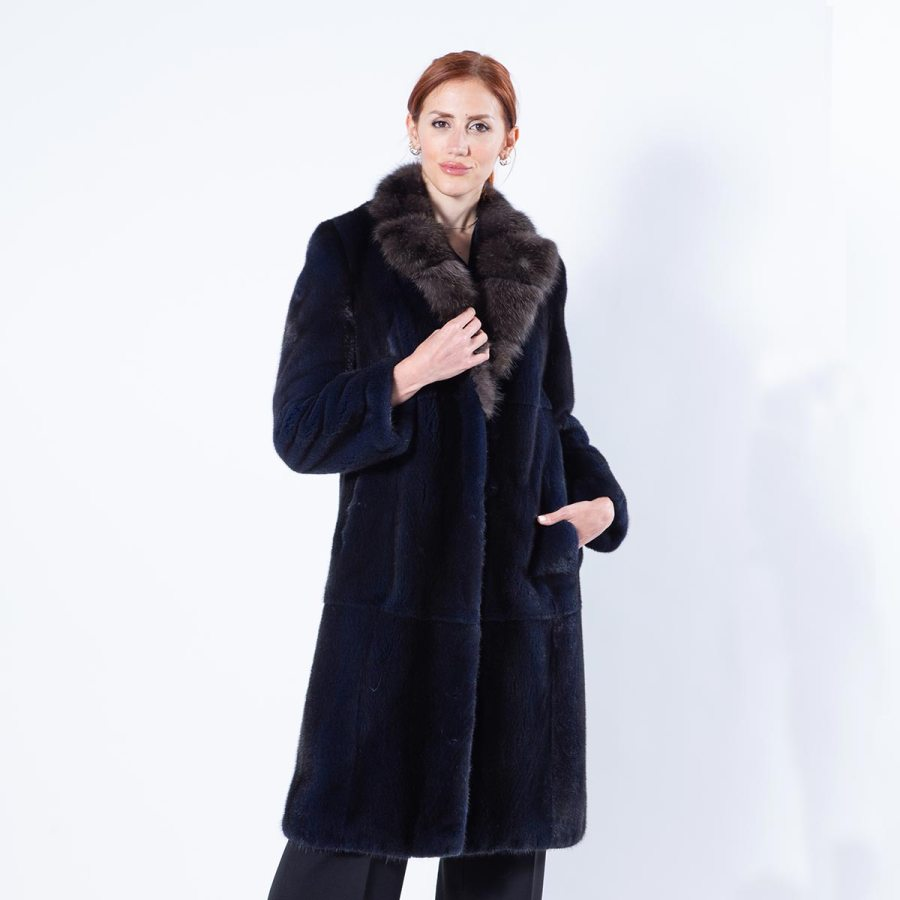 Multi-coloured Mink Coat | Шуба из норки цвета Royal Blue - Sarigianni Furs