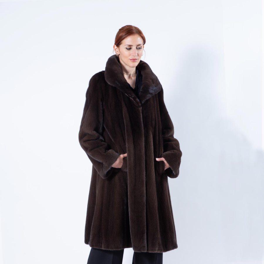 Mahogany Mink Coat - Sarigianni Furs