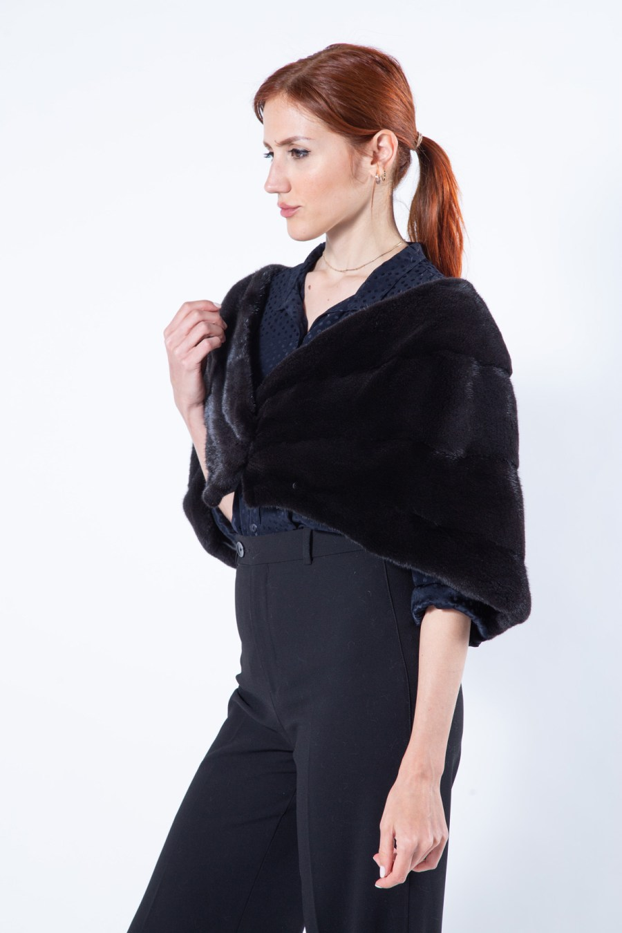 Luxurious Blackglama Mink Fur Stole   Меховой палантин из норки Blackglama - Sarigianni Furs