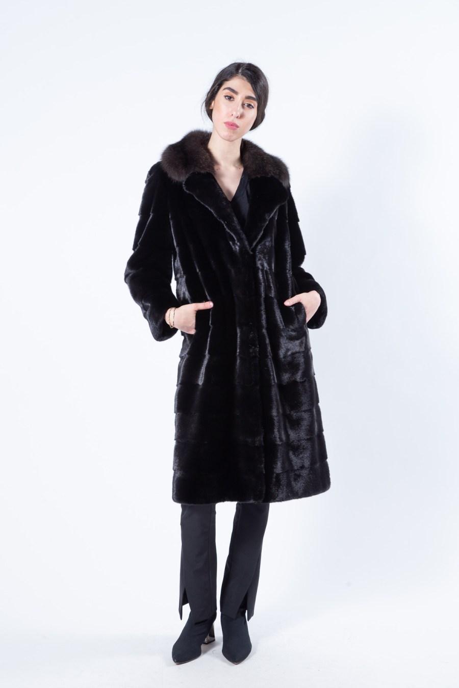 Blackglama Mink Coat with Sable collar | Sarigianni Furs