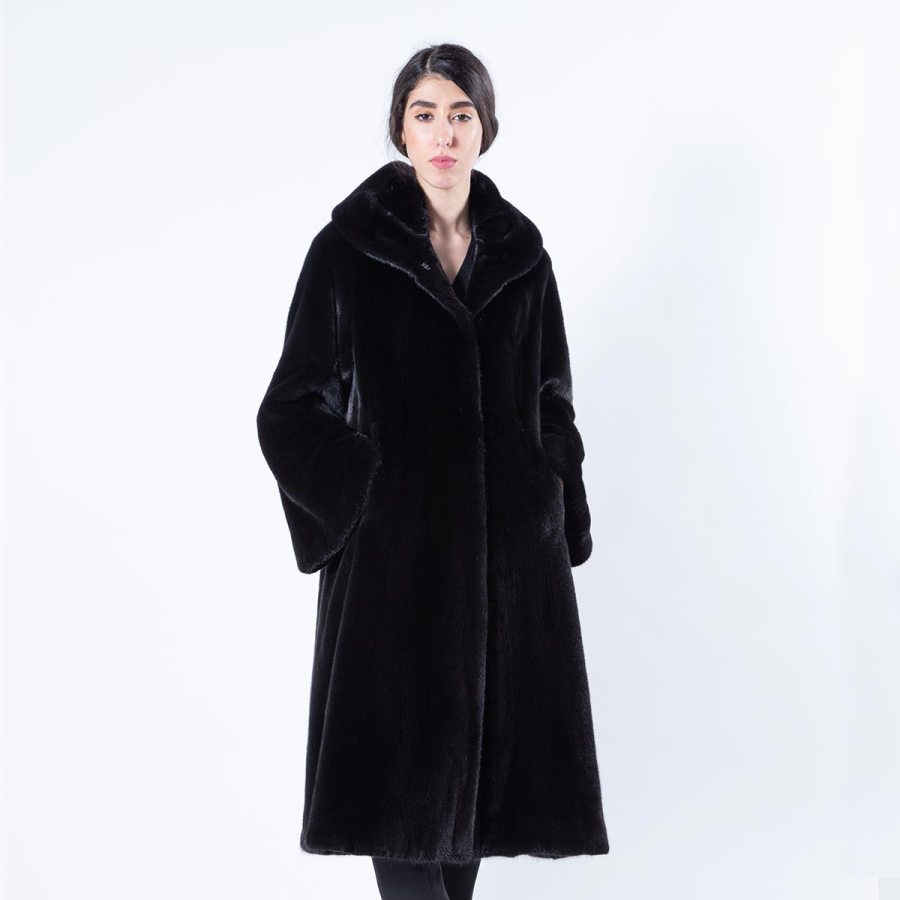 Blackglama Mink Coat with collar - Sarigianni Furs