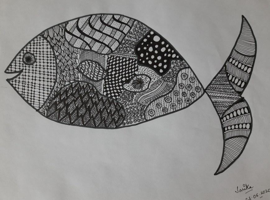Fish Zentangle_Sarika