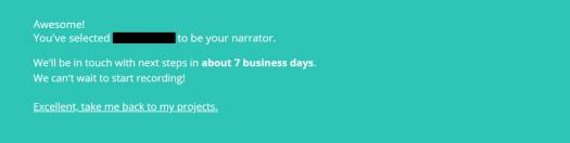 The Audiobook Diaries | Week 4 | Narrator Booking Confirmation