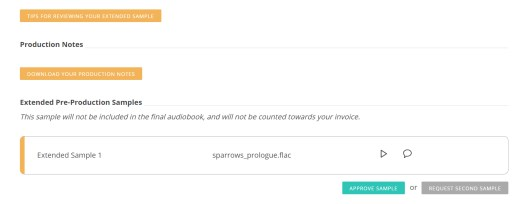 The Audiobook Diaries | Week 11 - Production dashboard