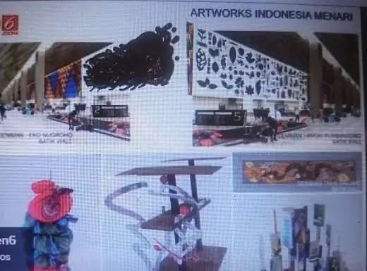 Beberapa karya seni yang bakal terpampang di Terminal 3 - Diambil dari Youtube Liputan 6