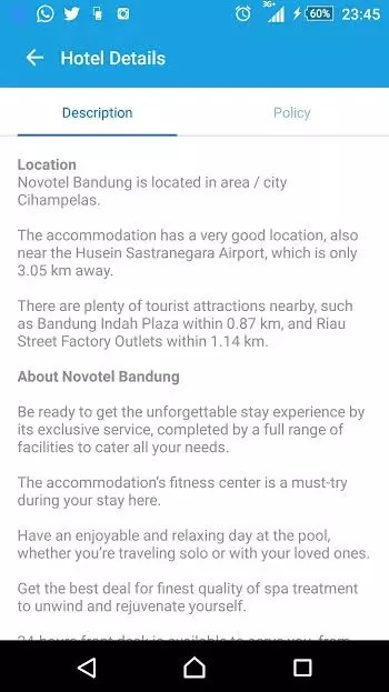 #Traveloka novotel description