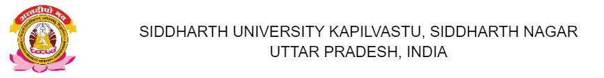 Siddharth University Exam Form