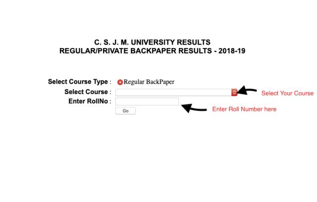 CSJMU Back Paper Result