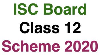 ISC 12th Scheme