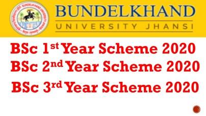 BU Jhansi BSc Scheme 2020