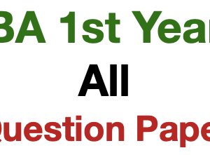 BA 1st Year Question Paper