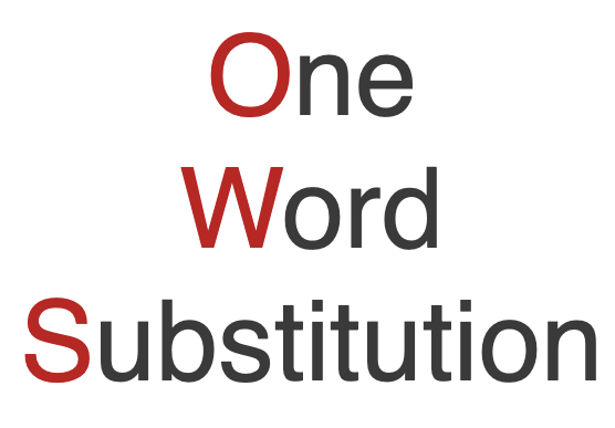 One Word Substitution 2