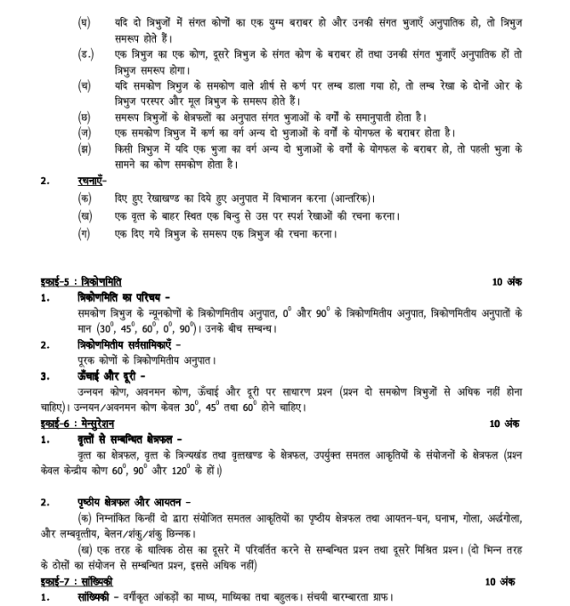 UP Board Syllabus for Exam 2021 7