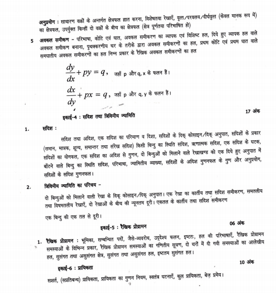 UP Board Syllabus for Exam 2021 14