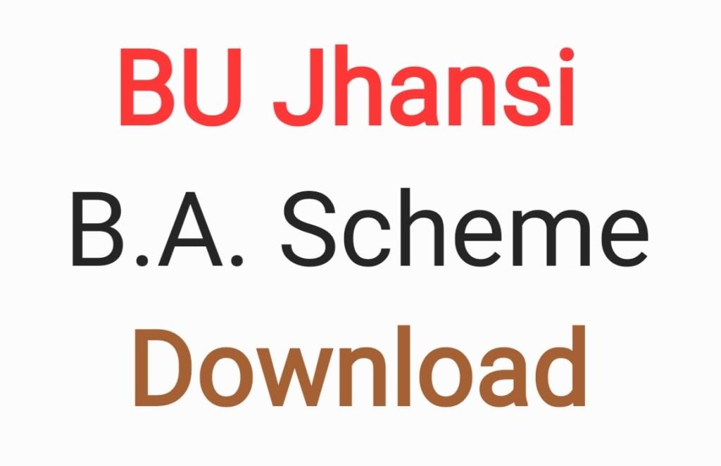BU Jhansi BA Scheme
