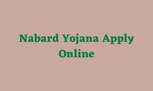 nabard yojana apply online