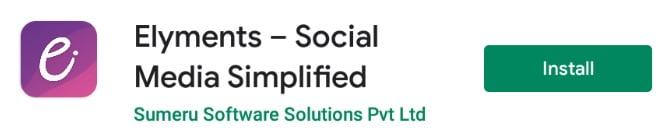 Elyments Social Media App
