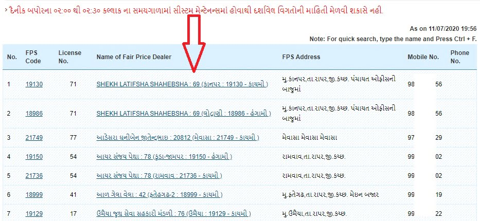 gujarat ration card fps list