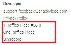 snack video address