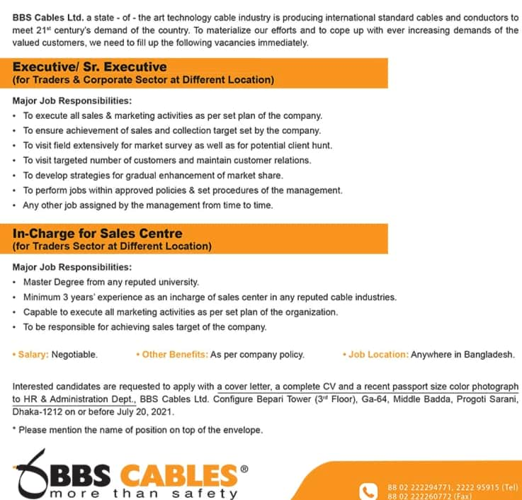 BBS Cables Limited jobs