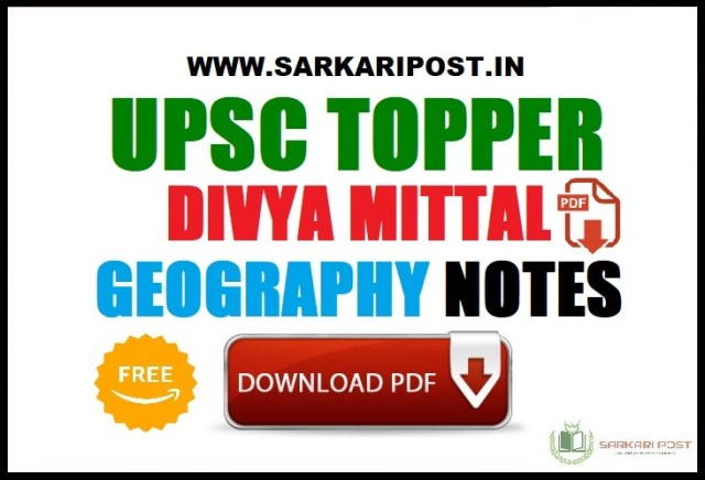 Divya Mittal Geography Notes
