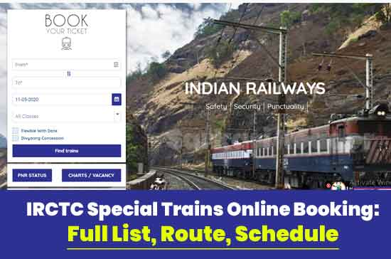 IRCTC-Special-Trains-Online-Booking