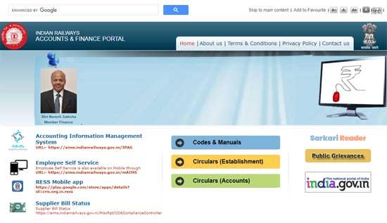 Railway-Employee-Vetan-Parchi-AIMS-Portal